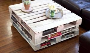 Table basse faite en palette en bois