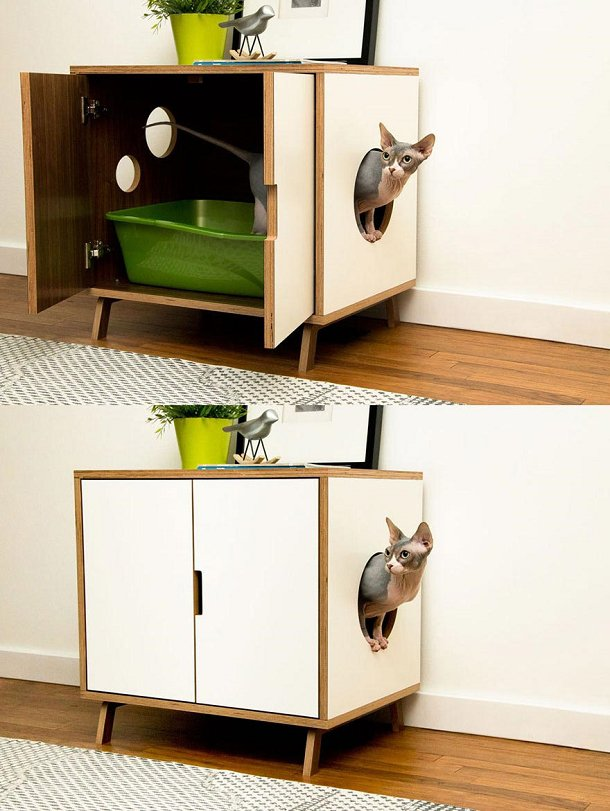 meuble toilette chat. Black Bedroom Furniture Sets. Home Design Ideas