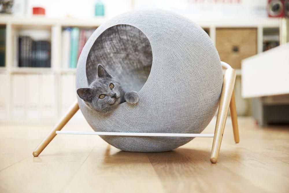 Des meubles pour chat la fois utiles et designs cuboak - Panier pour chat design ...