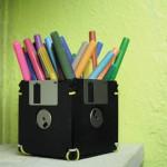 pot crayons disquette