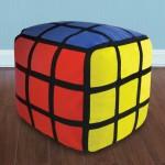 coussin pouf rubiks cube