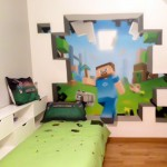 sticker mural minecraft 3
