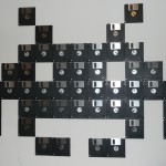 tableau disquette space invaders