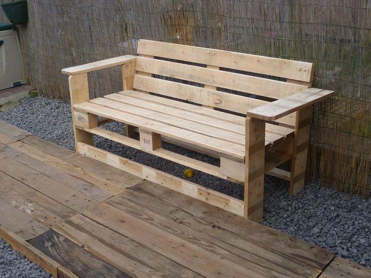 Fabriquer Un Banc En Bois De Palette : Bench Made From Pallets Plans