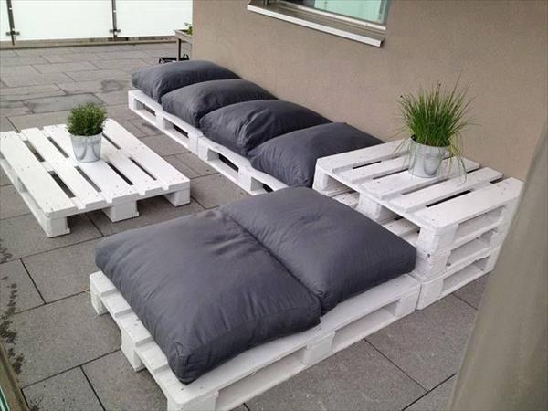 canapé en palette extérieur 3