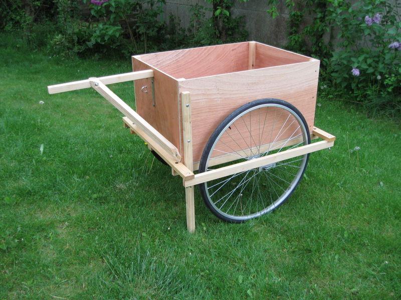 cariolle vélo bois