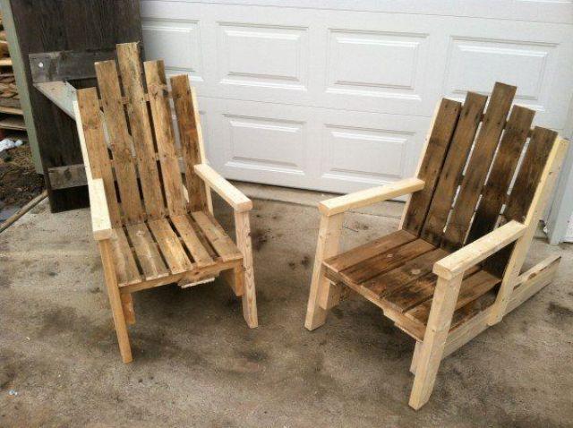 chaise en palette