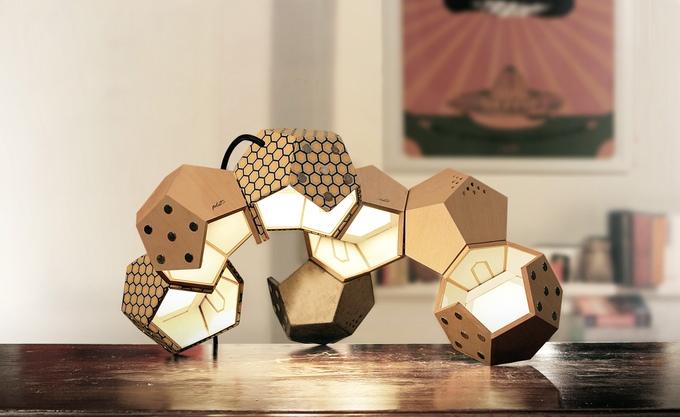 d twelve une lampe modulable et aimant e cuboak. Black Bedroom Furniture Sets. Home Design Ideas