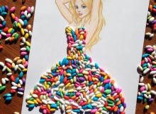 dessin robe bonbon