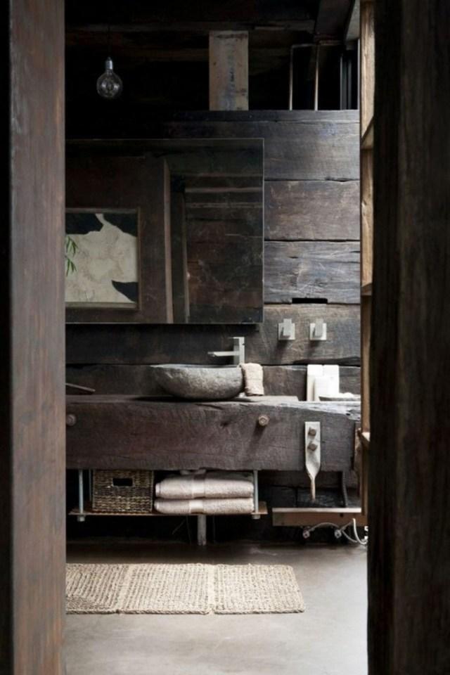 fabriquer meuble salle de bain en pierre
