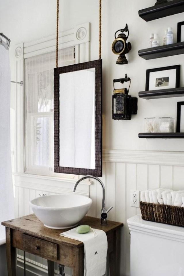 fabriquer meuble salle de bain vieux bois