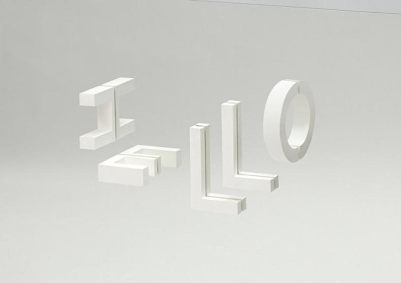 faire un mot avec des lettres sur un miroir