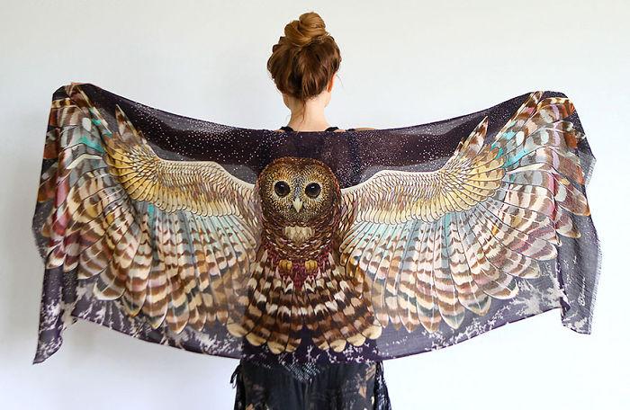 foulard oiseau