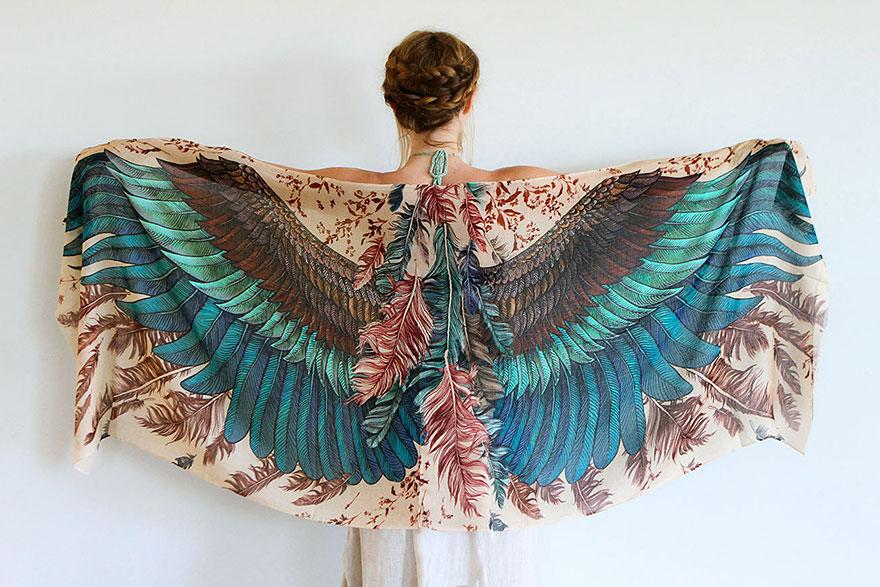 foulard oiseaux