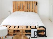 lit en palette de bois