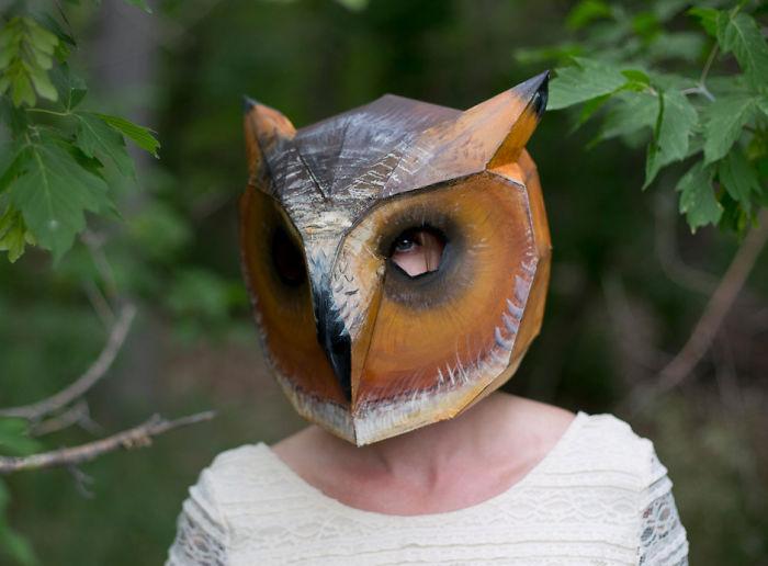papercraft hibou oiseau