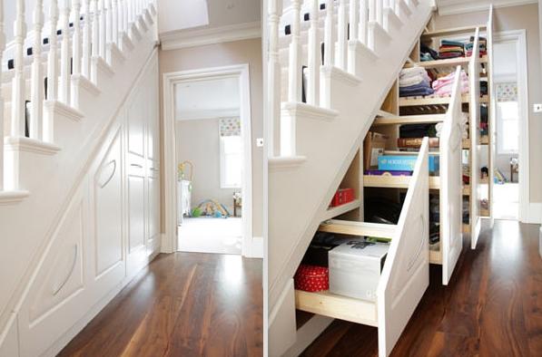De l originalit pour votre placard sous escalier cuboak - Faire un placard sous escalier ...