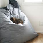pouf géant carré chat