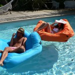 pouf gonflable piscine