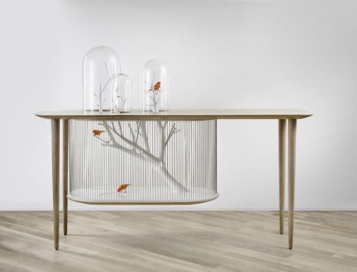 table cage oiseau