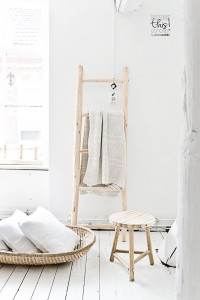 détournement échelle porte serviette