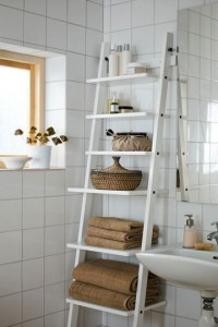 echelle rangement salle de bain